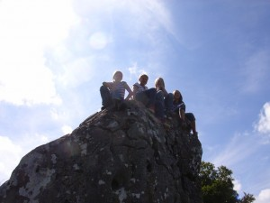 Wir auf dem Gipfel (im Sommer)