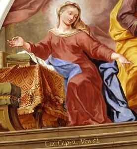 Maria mit Nadel und Faden