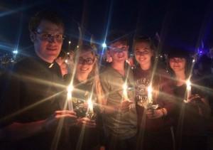 Die Gruppe aus dem Raum Senden nach der Vigil mit Papst Franziskus auf dem Campus Misericordiae